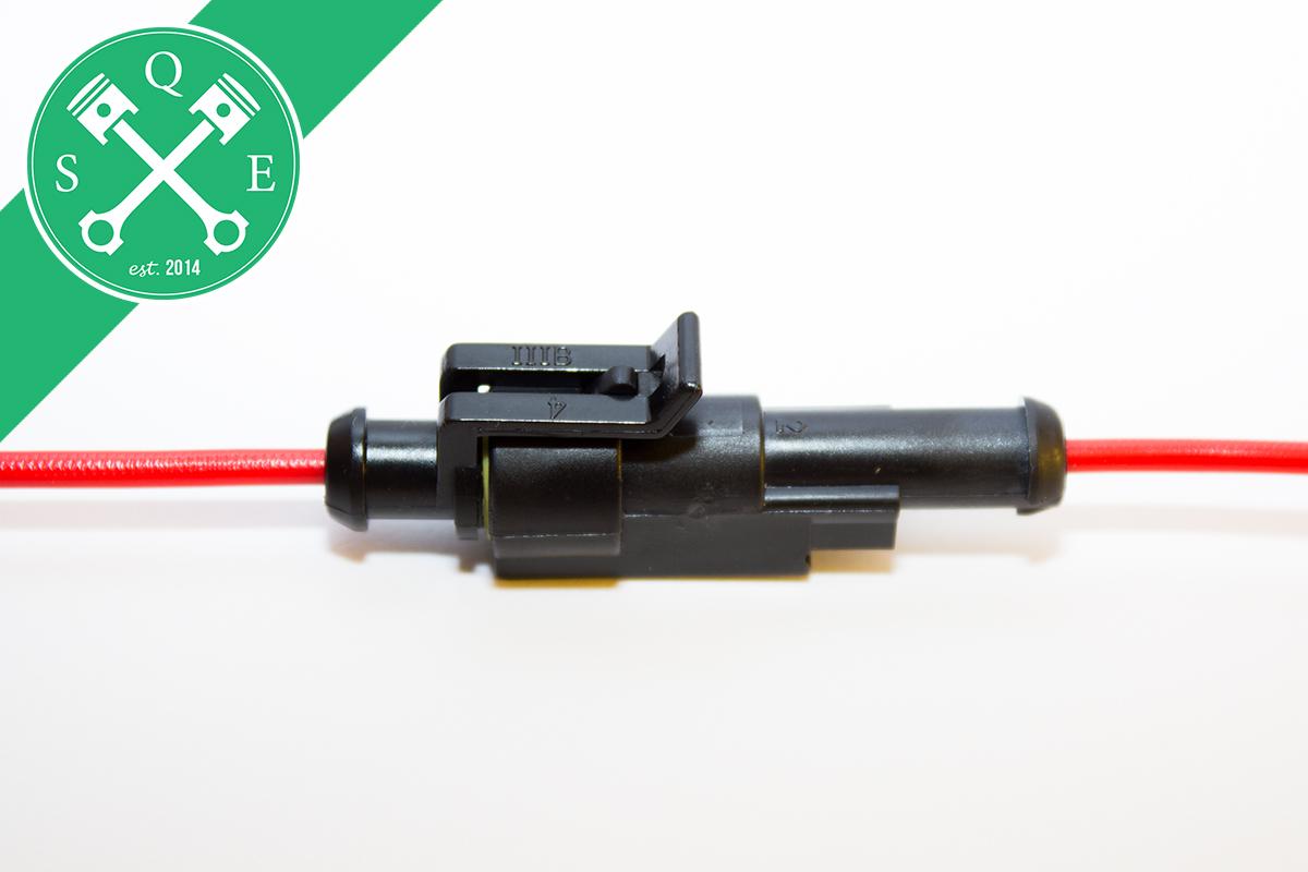 set wasserdichte stecker 1 polig mit kabel oldtimer youngtimer motorrad ebay. Black Bedroom Furniture Sets. Home Design Ideas