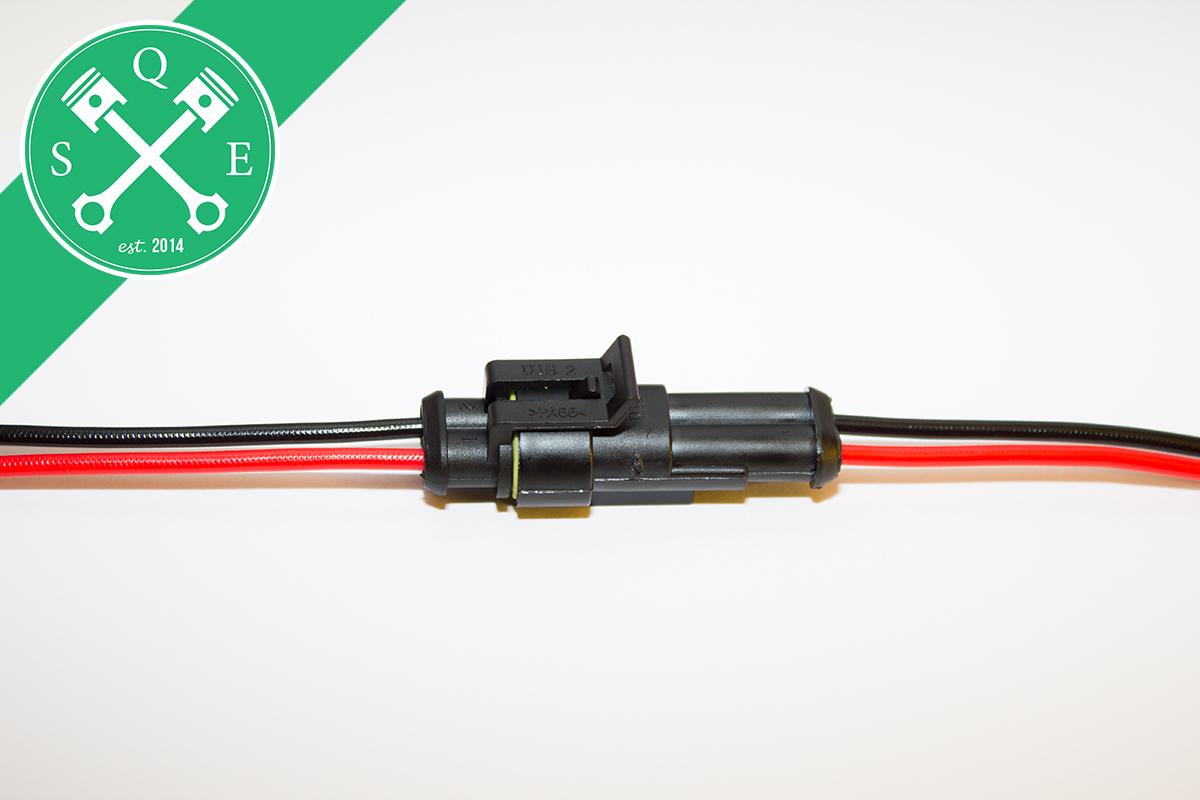 wasserdichte kfz steckverbindung stecker 2 polig mit kabel fertig konfektioniert ebay. Black Bedroom Furniture Sets. Home Design Ideas